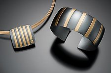 Striped Cuff by Tom McGurrin (Gold & Silver Bracelet)