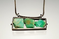 Chrysoprase Necklace by Ashka Dymel (Silver & Stone Necklace)