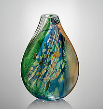 Aquos Flat by Randi Solin (Art Glass Vessel)