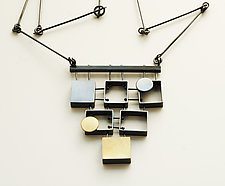 Stacked Multi Rectangles Necklace by Ashka Dymel (Gold & Silver Necklace)