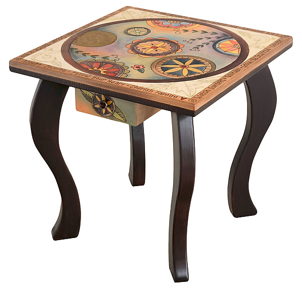 End Table with Circle Pattern