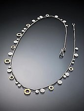 Ring and Dot Necklace by Ken Loeber and Dona Look (Gold & Silver Necklace)
