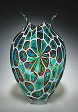 Windowed Foglio by David Patchen (Art Glass Vessel)