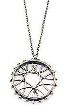 Radial Arc Necklace by Nikki Nation (Silver Necklace)