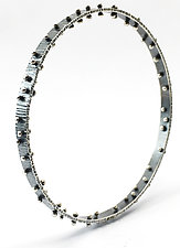 Wide Ball Bangle by Nikki Nation (Silver & Glass Bracelet)