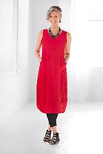 Nina Dress - Red by Comfy USA  (Knit Dress)
