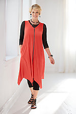 Claudine Dress - Coral by Comfy USA  (Knit Dress)