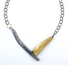 Fault Line Necklace by Sydney Lynch (Gold & Silver Necklace)