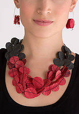 Joomchi Five Strand Necklace by Nancy Raasch (Paper Jewelry)