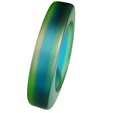 Abstract Triangle Striped by Velina Glass (Resin Bracelet)