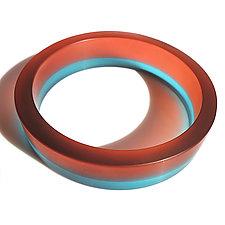 Going In Circles Resin Bangle by Velina Glass (Resin Bracelet)