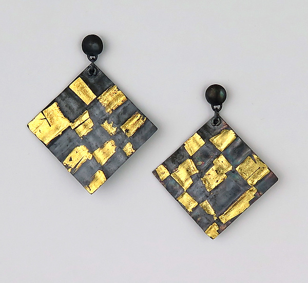 Black Checkerboard Earrings