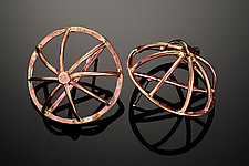 Roman Wheel Earrings by Randi Chervitz (Bronze Earrings)