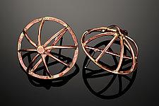 Roman Wheel Earrings by Randi Chervitz (Bronze Earrings)