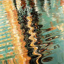 Wave Ripple by Jan Fordyce (Oil Painting)