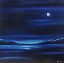 Night Moon by Mary Johnston (Oil Painting)