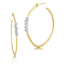 Scribble Cluster Hoops by Dana Melnick (Gold & Stone Earrings)