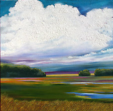 Wisconsin Farmland by Mary Johnston (Oil Painting)