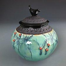 Little Bird Jar by Suzanne Crane (Ceramic Vessel)