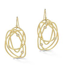 Scribble Tangle Earrings by Dana Melnick (Gold & Stone Earrings)