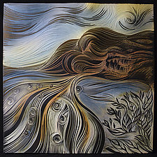 La Jolla Landscape by Natalie Blake (Ceramic Wall Sculpture)