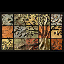 Tree of Life Wall Sculpture by Natalie Blake (Ceramic Wall Sculpture)