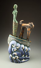 Never Look Back by Cathy Broski (Ceramic Sculpture)
