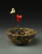 Love Nest II by Cathy Broski (Ceramic Sculpture)