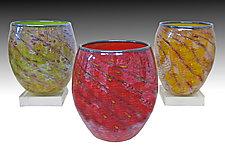 Ripple Bowl by Thomas Philabaum (Art Glass Bowl)