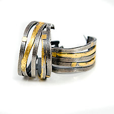 Wide Wave Hoop Earrings by Lori Gottlieb (Gold & Silver Earrings)