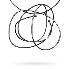 Scribble Necklace by Melissa Finelli (Silver Necklace)