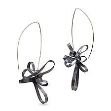 Ribbon Earrings by Melissa Finelli (Silver Earrings)