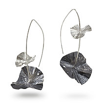 Lily Pad Earrings by Melissa Finelli (Silver Earrings)