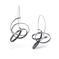 Scribble Earrings by Melissa Finelli (Silver Earrings)