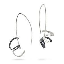 Squiggle Earrings by Melissa Finelli (Silver Earrings)