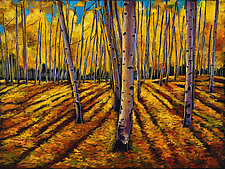 Shadows and Aspen by Johnathan  Harris (Acrylic Painting)