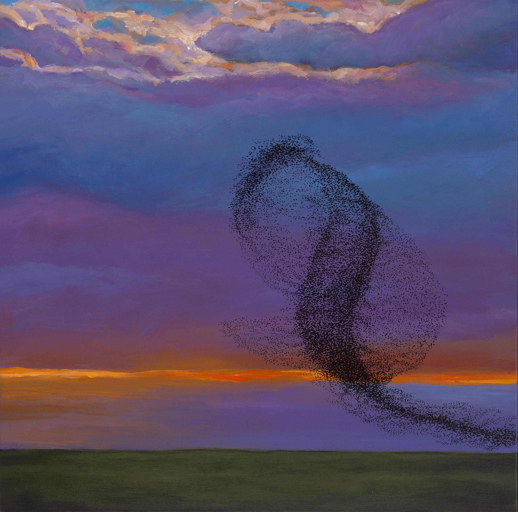 Murmuration: Twilight Serenade By Johnathan Harris (Acrylic Painting