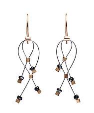 Mini Lattice Earrings by Meghan Patrice  Riley (Gold, Steel & Stone Earrings)