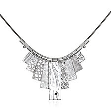 White Rhodium Tab Necklace by Suzanne Q Evon (Silver & Rhodium Necklace)