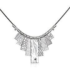 White Rhodium Tab Necklace by Suzanne Q Evon (Silver & Rhodium Necklace)