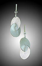 Orbit Earrings in Fine Silver by Marcia Meyers (Silver Earrings)
