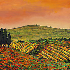 Tuscan Morning by Johnathan  Harris (Acrylic Painting)