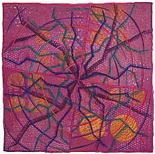Geoforms:  Fractures #4 by Michele Hardy (Fiber Wall Hanging)