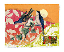 Sunrise Birds #20 by Ouida  Touchon (Mixed-Media Wall Art)