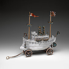 Steam Yacht by Scott Nelles (Metal Sculpture)