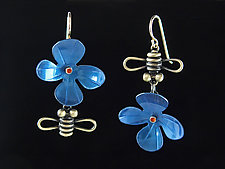 Bloom Earrings by Lisa and Scott  Cylinder (Metal Earrings)