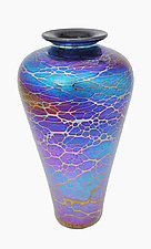 Spider High-Shoulder Vase by Minh Martin (Art Glass Vase)