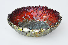 Orange, Red, Yellow by Mira Woodworth (Art Glass Bowl)