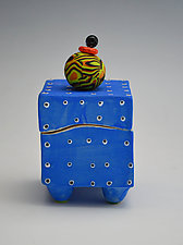 Blue Dotted Box by Vaughan Nelson (Ceramic Box)