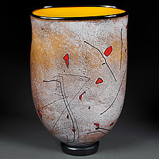 Zoloto Leto Yabloki (Golden Summer Apples) by Eric Bladholm (Art Glass Vase)